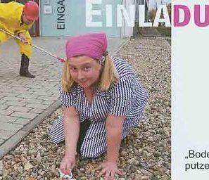 """Ausstellung """"Bodenpersonal - putzen - kann jeder?!"""" Einladung 2009"""